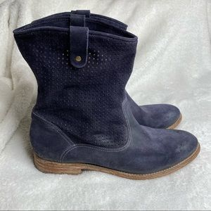 n.d.c. Made by Hand Leather Boots Gray/Blue 39
